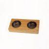 Bildet viser en 2-punkts telysholdere i eik.